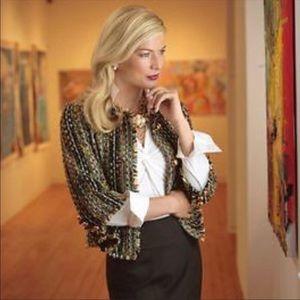 Cabi Paris Wool Blend Boucle Tweed Blazer/Jacket